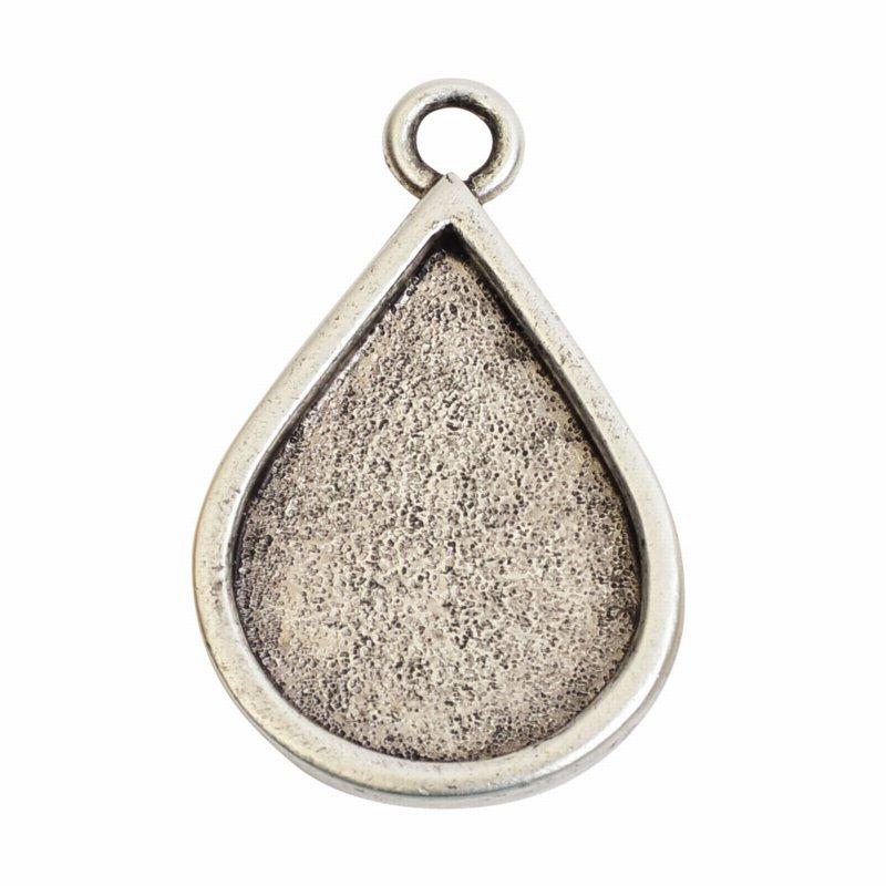 s57085 Bezel - Grande Pendant Drop - Antiqued Silver