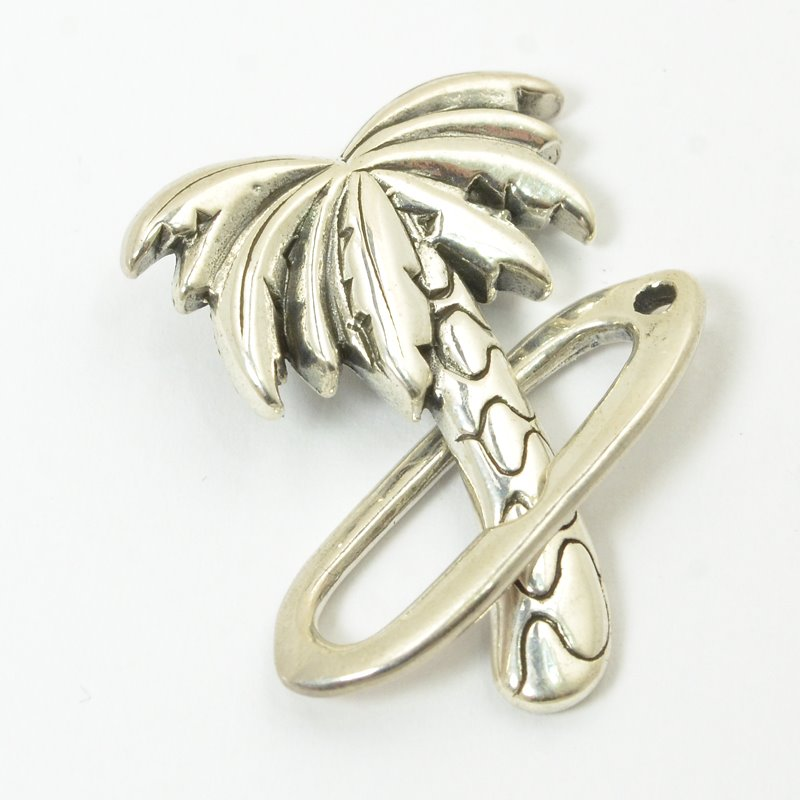 s57135 Findings - Clasps - Toggle -  Palm Tree - Sterling
