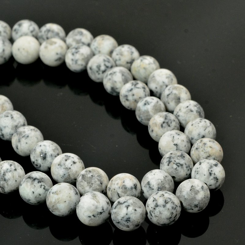s57414 Frosted Glass - 10 mm Round Beads - Appaloosa (strand)