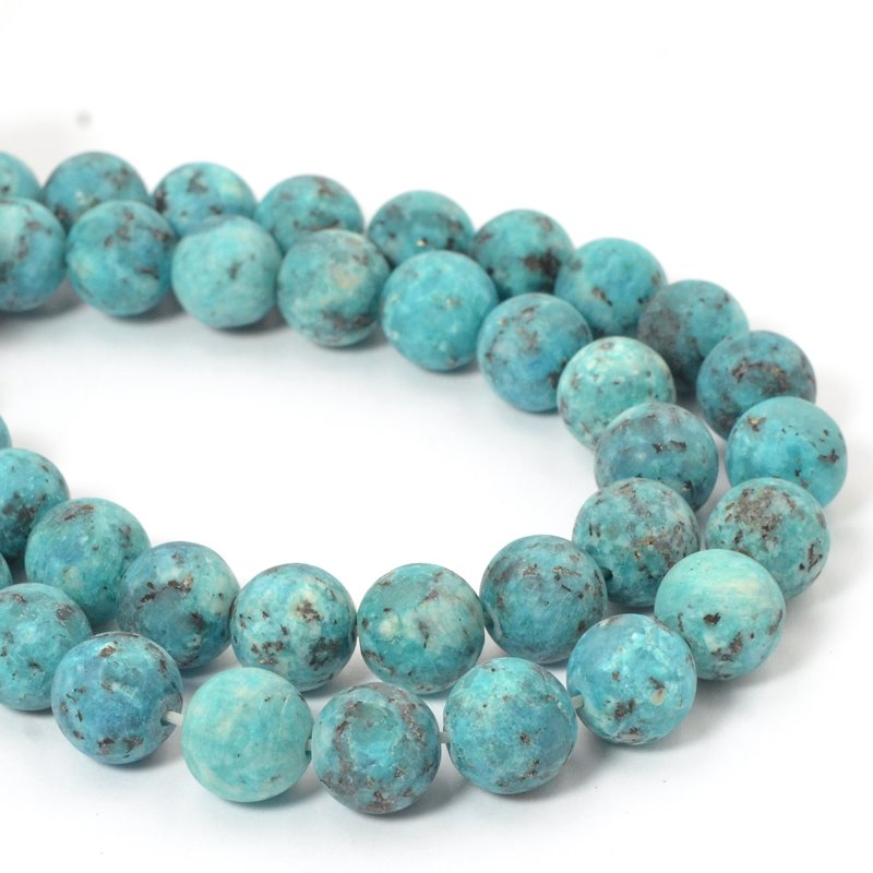 s57435 Frosted Glass - 10 mm Round Beads - Salt Spring Island (strand)