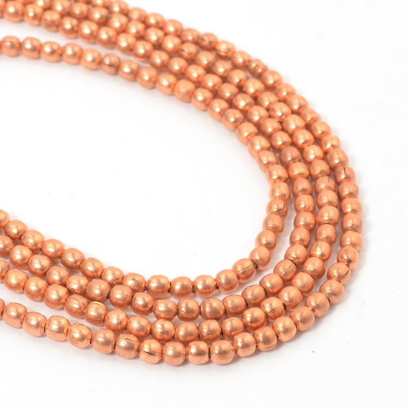 s57449 Metal Beads - 2.65 mm Round - Bright Copper (strand)