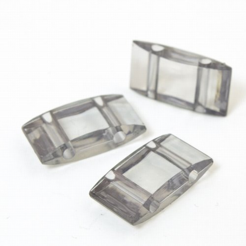 s57771 Finding - Acrylic Carrier Beads - Grey (10)