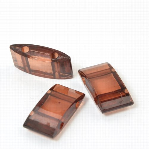 s57774 Finding - Acrylic Carrier Beads - Dark Amber (10)