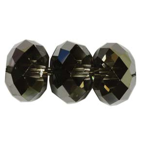 s57788 Swarovski Bead - 4 mm Faceted Donut (5040) - Crystal Silver Night (144)