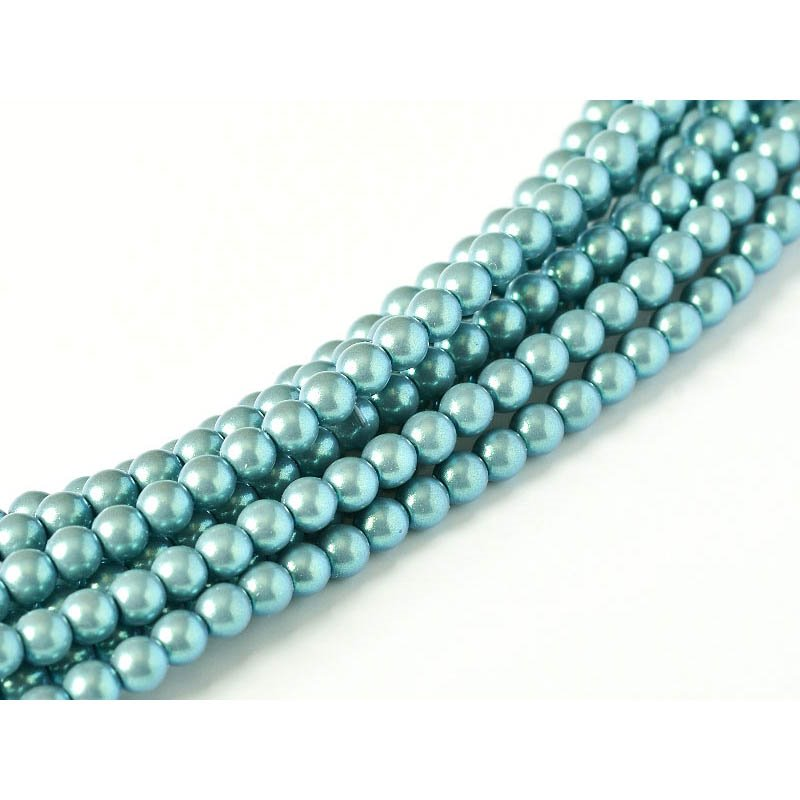 s58158 Glass Pearls - 2 mm Round - Silver Blue (strand 150)