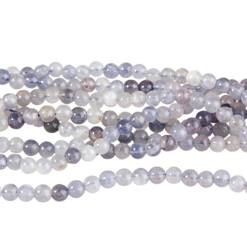 s58767 Stone Beads - 4 mm Round - Iolite (strand)