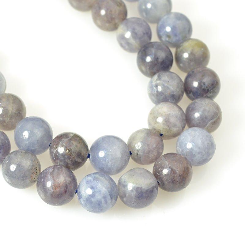s58770 Stone Beads - 10 mm Round - Iolite (strand)