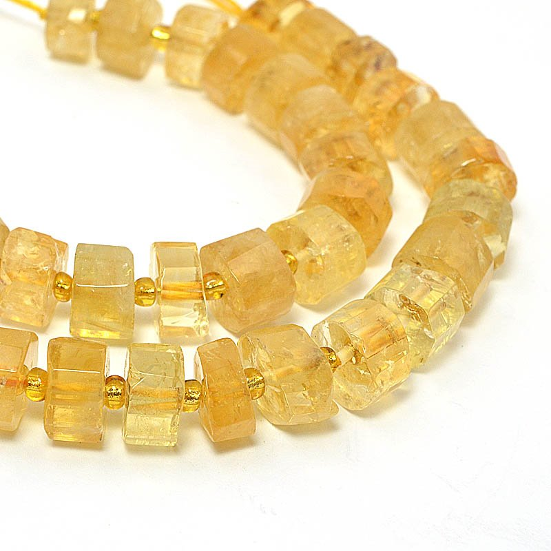 s58974 Stone Beads - 8-10 mm Faceted Rondelles - Citrine (strand)