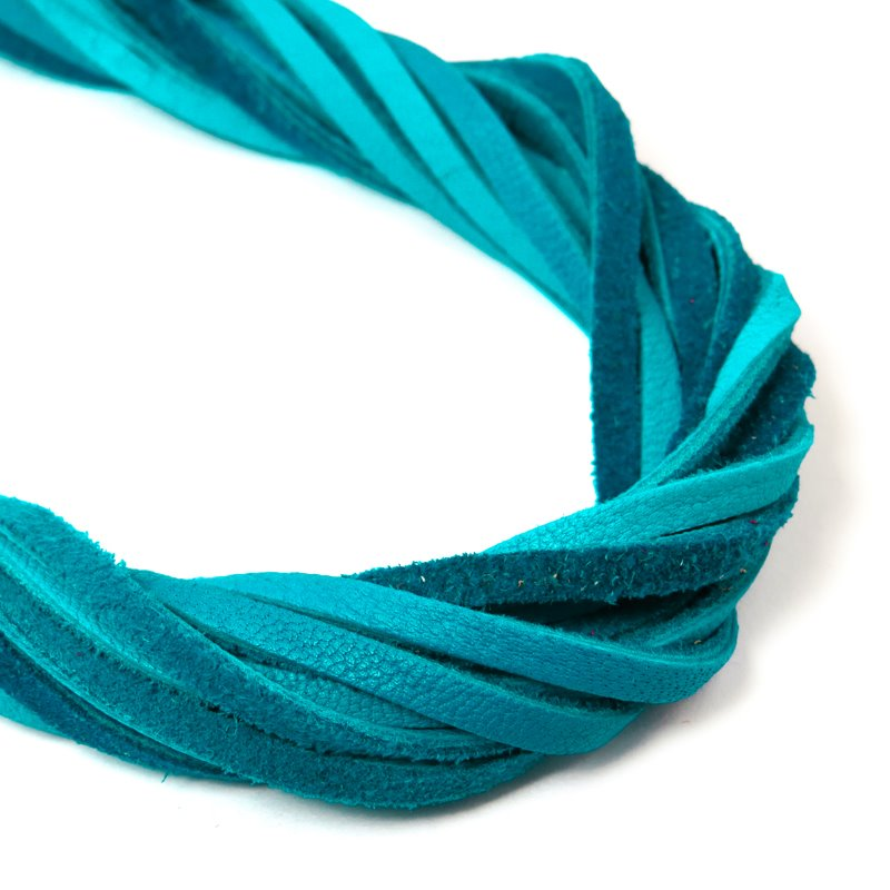 s59046 Leather - 3 mm Leather Strip - Turquoise