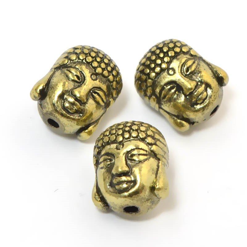 s59273 Metal Beads - Buddha Head - Brass Oxide