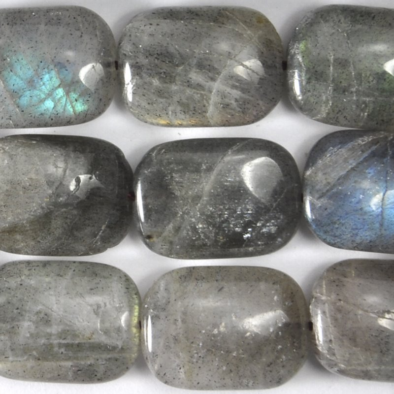 s59311 Stone Beads - 13 x 18 mm Rectangle - Labradorite (strand)