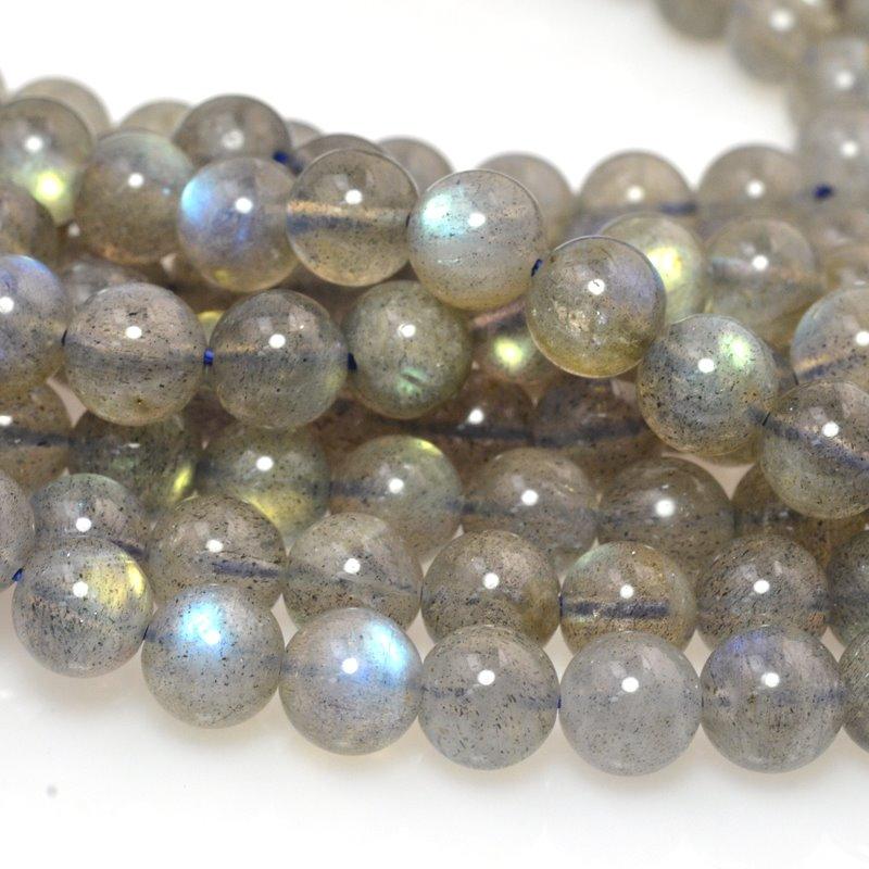 s59318 Stone Beads - 6 mm Round - Labradorite AA Grade (16 inch strand)
