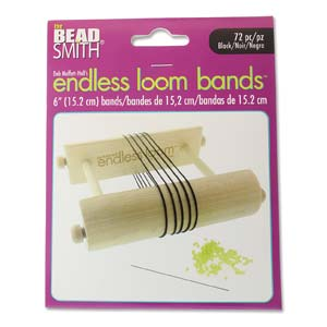 s59559 Tools - 6 inch Bands for Endless Loom - Black (72)