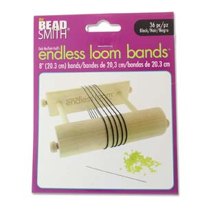 s59567 Tools - 8 inch Bands for Endless Loom - Black (36)