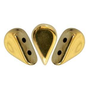 s60355 Czech Shaped Beads - 2 Hole Amos par Puca - Dorado Fullcoat