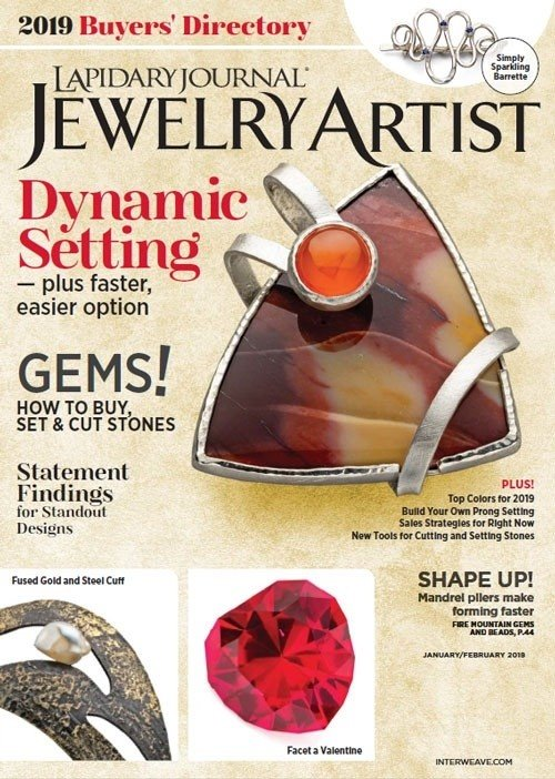 s60582 Magazine - Lapidary Journal Jewelry Artist -  2019 - January - February
