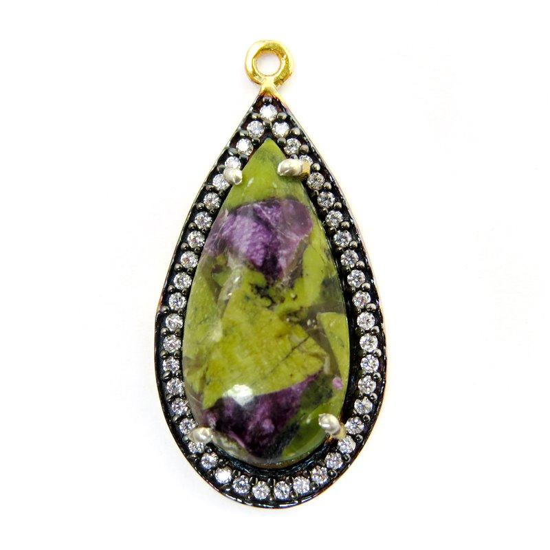 s60636 Stone Pendant - Limited Edition -  Teardrop - Phosphosiderite