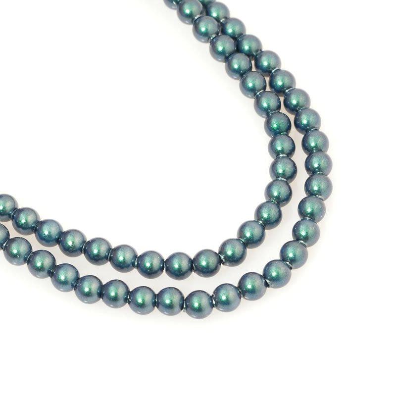 s60686 Swarovski Pearl - 3 mm Round Pearl (5810) - Iridescent Tahitian Look Pearl (100)