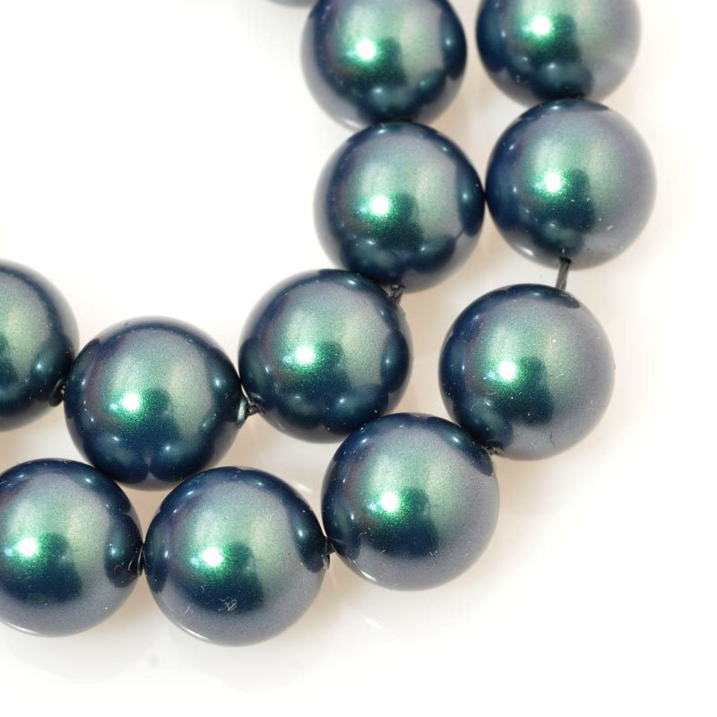 s60687 Swarovski Pearl - 10 mm Round Pearl (5810) - Iridescent Tahitian Look Pearl (10)