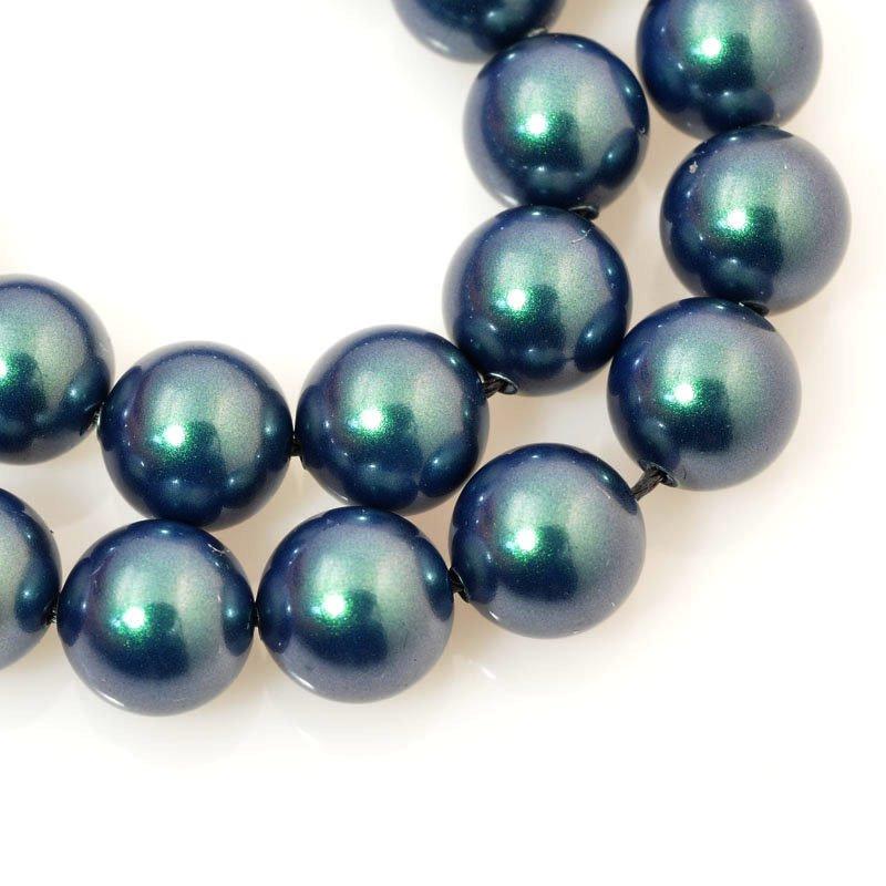 s60688 Swarovski Pearl - 8mm Round Pearl (5810) - Iridescent Tahitian Look Pearl (strand 25)