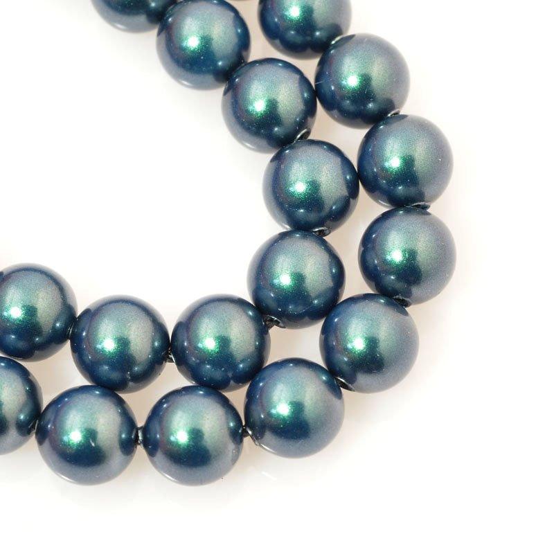 s60689 Swarovski Pearl - 6 mm Round Pearl (5810) - Iridescent Tahitian Look Pearl (strand 25)