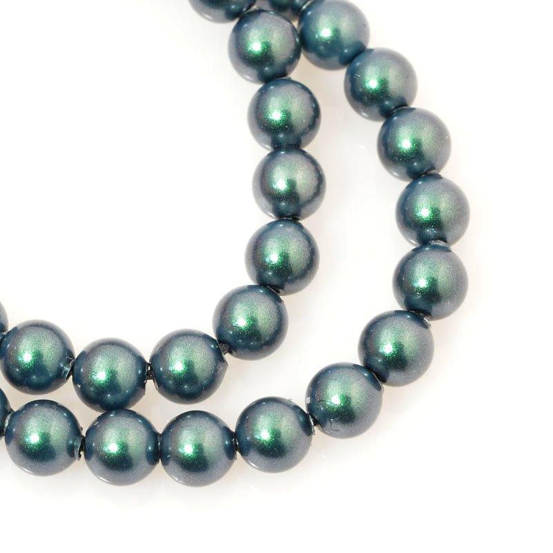 s60690 Swarovski Pearl - 4 mm Round Pearl (5810) - Iridescent Tahitian Look Pearl (strand 25)