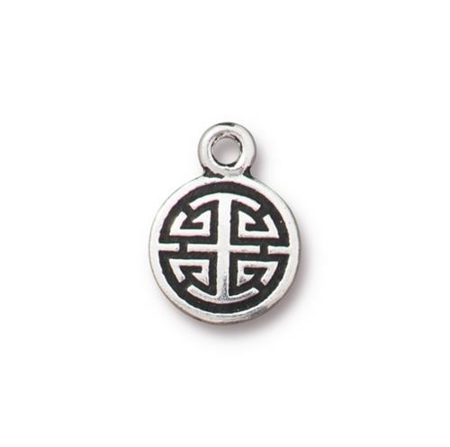s60734 Charm -  Chinese Lu - Antiqued Silver