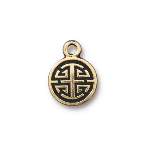 s60735 Charm -  Chinese Lu - Antique Gold