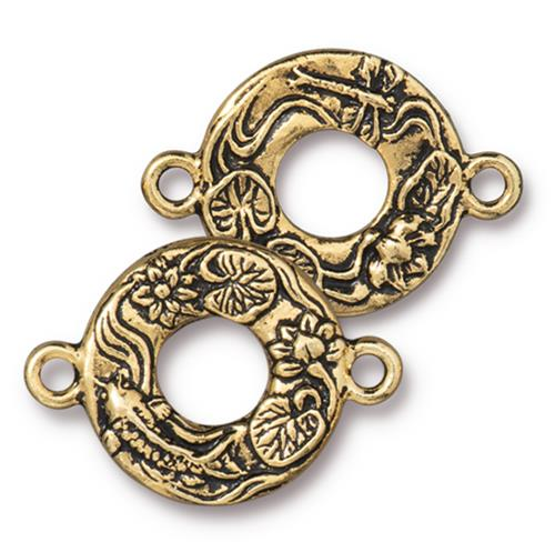 s60741 Findings - Link -  Circle Koi - Antique Gold
