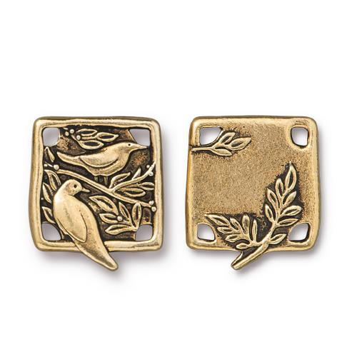 s60767 Finding - Link -  Botanical Birds - Antique Gold