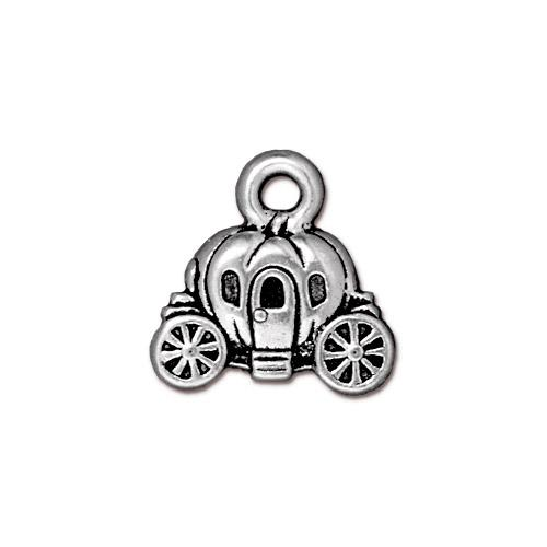 s60773 Charm -  Pumpkin Coach - Antiqued Silver