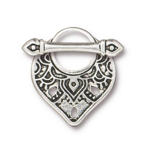s60802 Clasps - Toggle -  Temple - Antiqued Silver