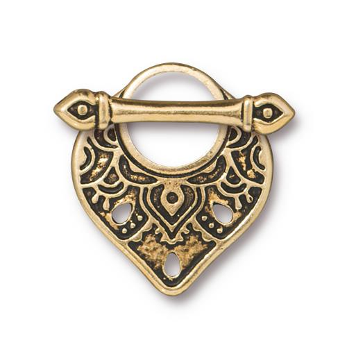 s60803 Clasps - Toggle -  Temple - Antique Gold