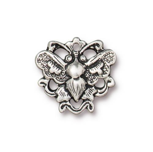 s60876 Finding - Link -  Wild Butterfly - Antiqued Silver