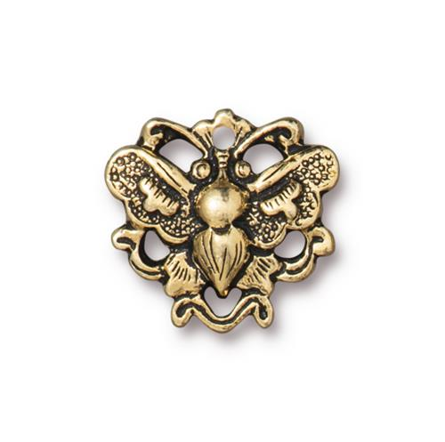 s60877 Finding - Link -  Wild Butterfly - Antique Gold