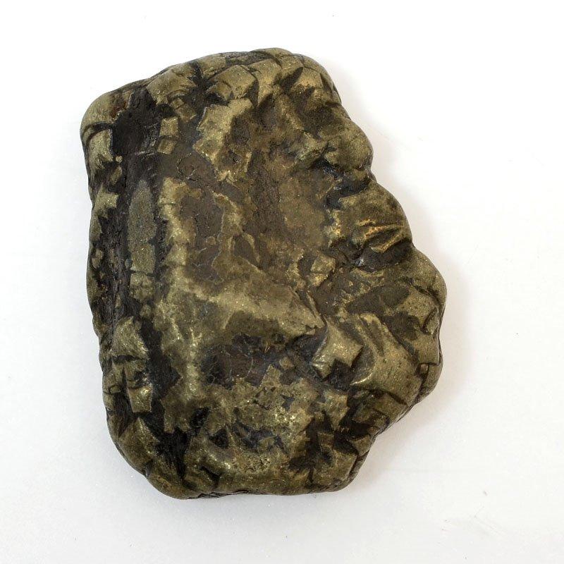 s61049 Stone Cabochon - OOAK -  Freeform - Pyrite