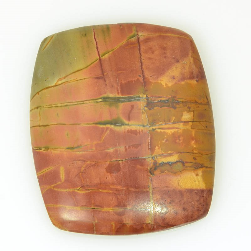 s61110 Stone Cabochon - OOAK - 30x36mm Rectangle - Red Creek Jasper