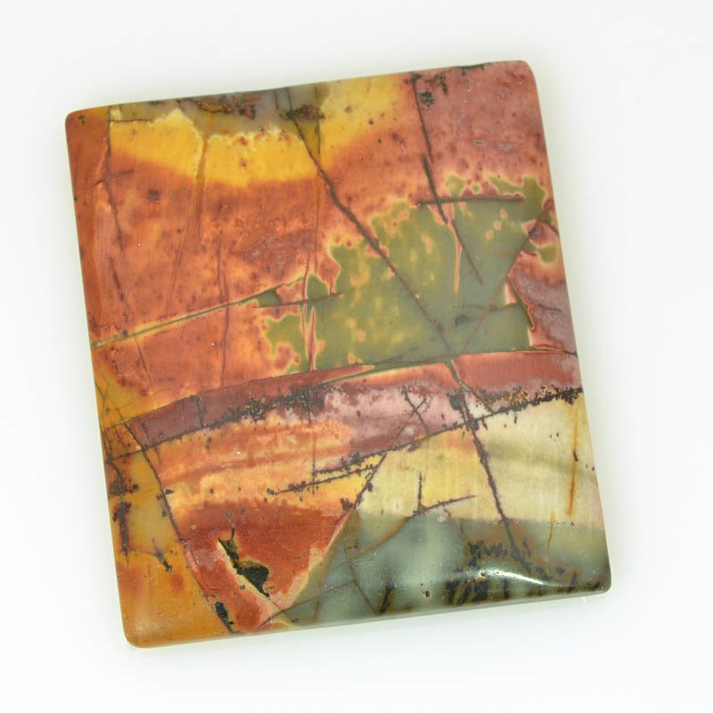 s61112 Stone Cabochon - OOAK - 33x38mm Rectangle - Red Creek Jasper