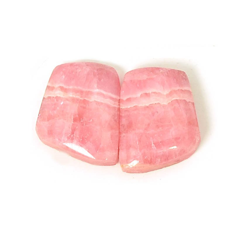 s61125 Stone Cabochon - OOAK - 15mm Book Matched Freeform - Rhodochrosite (Pair)