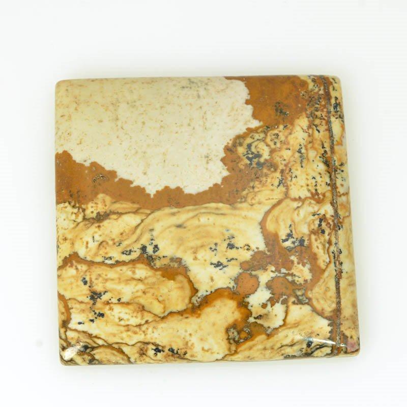 s61157 Stone Cabochon - OOAK - 35mm Square - Picture Jasper