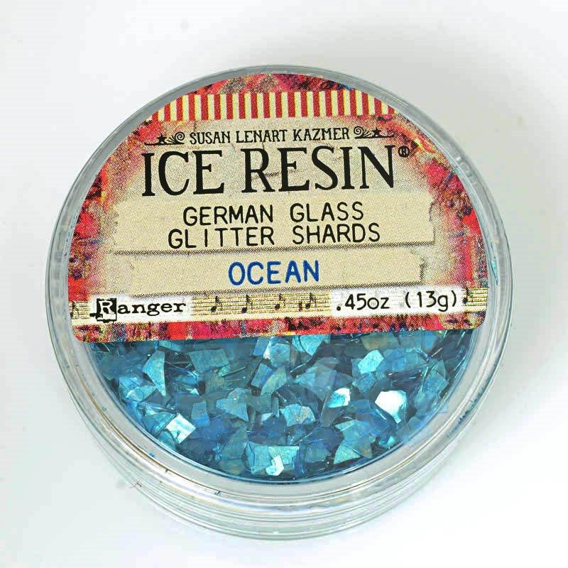 s61199 Ice Resin -  German Glass Glitter Shards - Ocean
