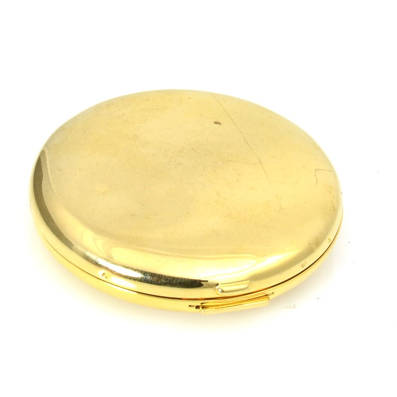 s62249 OOAK -  Compact - Bright Gold Plated