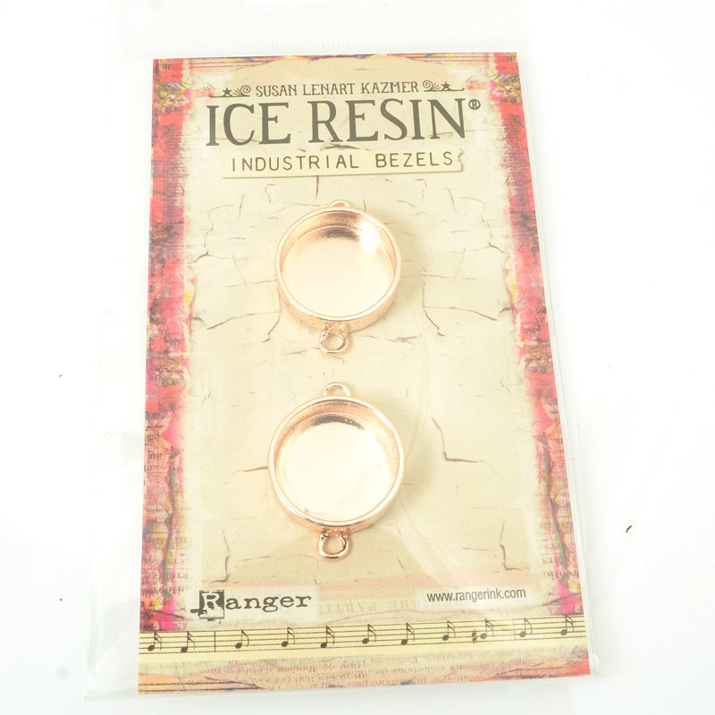 s62278 Ice Resin - Small Circle Industrial Bezel - Rose Gold (Pack)