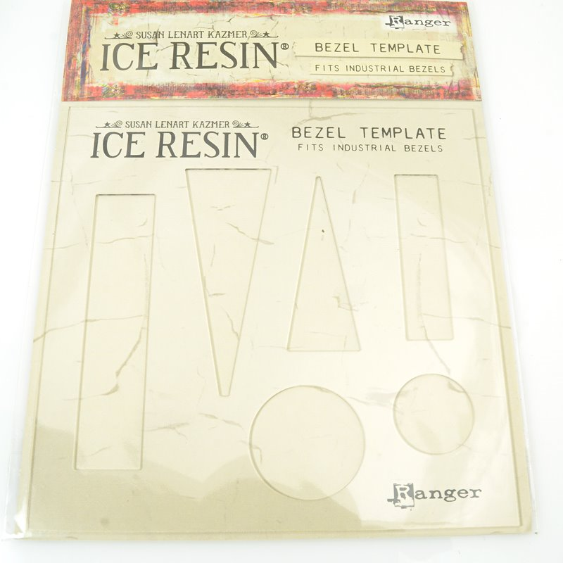 s62280 Ice Resin -  Industrial Bezel Template - Clear