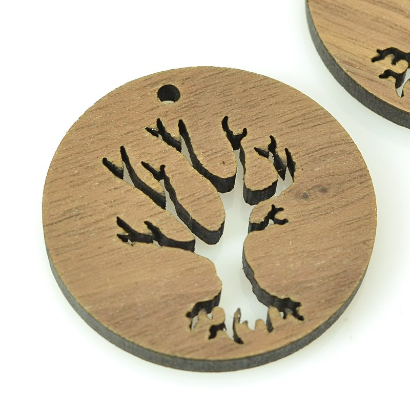 s62443 Pendant -  Tree - Walnut Wood
