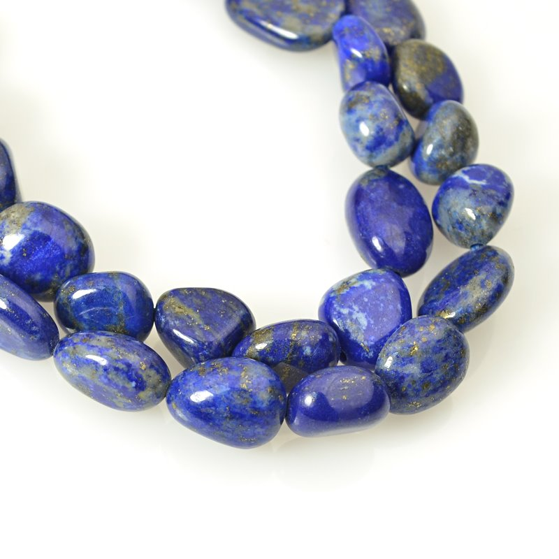 s62449 Stone Beads - 8x10mm Pebble - Lapis Lazuli (strand)