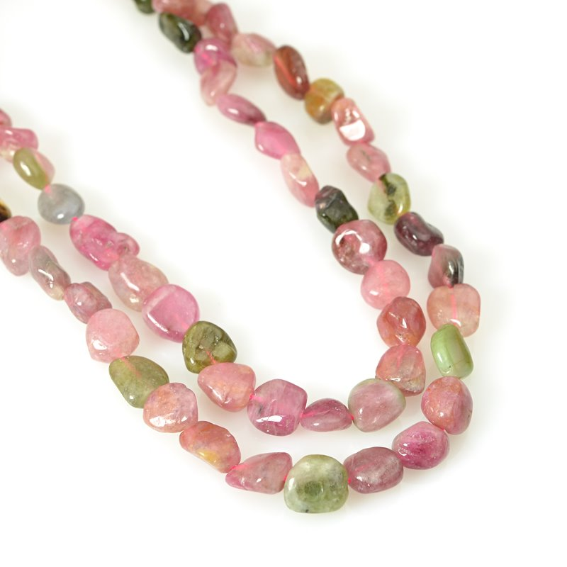 s62454 Stone Beads -  Pebble - Tourmaline (strand)