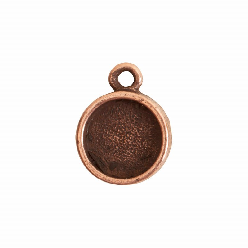 s62508 Charm - 14mm Itsy Circle Bezel - Antiqued Copper