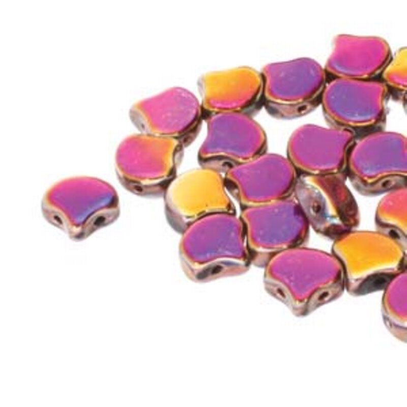 s62553 Czech Shaped Beads - 2-Hole Ginko - Full Sliperit