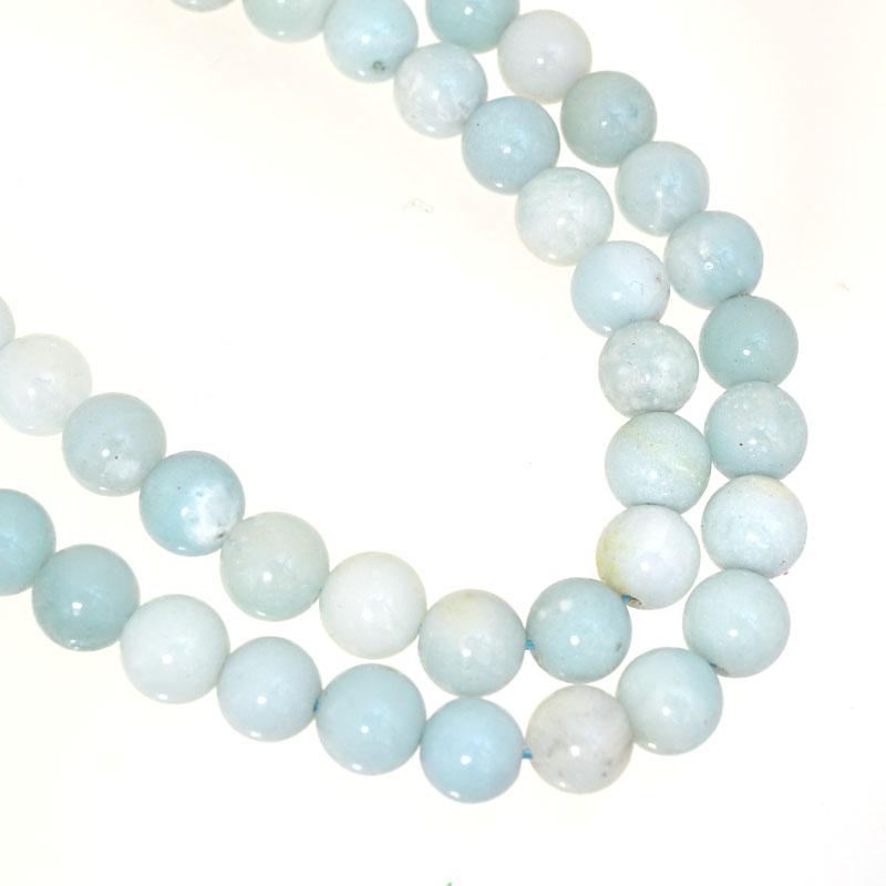 s62597 Stone Beads - 6mm Round - Amazonite (short strand)